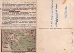 C0192 - Ansprung Zöblitz - Morgensternhöhe Wanderkarte Werbekarte Erzgebirge Werbung - Klappkarte - Werbepostkarten