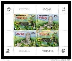Bosnia And Herzegovina (Croatian) 2017 Mih. 451/52 (Bl.38) Europa-Cept. Castles MNH ** - Bosnia And Herzegovina