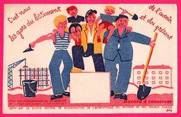 BUVARD Illustré - C'est Nous Les Gars Du Bâtiment De L'avenir Et Du Présent - Comité Apprentissage - Ouvrier - Grue - Autres