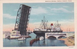 Texas Corpus Christi Bascule Bridge Curteich - Corpus Christi