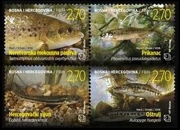 Bosnia And Herzegovina (Croatian) 2018 Mih. 499/502 Fauna. Fisches MNH ** - Bosnie-Herzegovine
