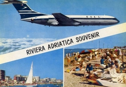 Riviera Adriatica - Aereo Boac - Società Inglese - Formato  Grande Viaggiata – E 9 - Non Classificati