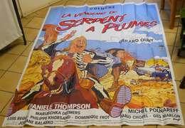 """Affiche Poster Cinéma Avec Coluche """"La Vengeance Du Serpent à Plumes"""" 155x115 Cm édit Lalande-Courbet Corbeil - Affiches"""