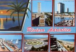 Riviera Adriatica - Cattolica - Rimini - Riccione - Cesenatico - Milano Marittima - Formato Grande Viaggiata – E 9 - Non Classificati
