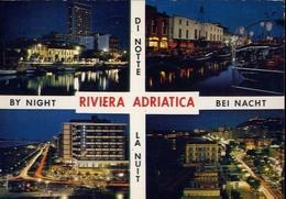 Riviera Adriatica - Di Notte - Formato Grande Viaggiata – E 9 - Non Classificati