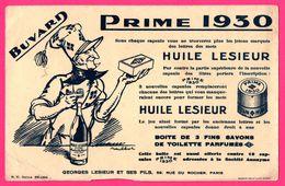 BUVARD Illustré Par POULBOT - Huile Lesieur - Prime 1930 - Savon - Georges LESIEUR Et Ses FILS Paris (75) - Alimentare