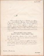 BRUXELLES Marie-Thérèse Baronne De STASSART Veuve De MOSER  75 Ans 1844 D'HOFFSCHMIDT De RESTEIGNE De MATHELIN - Obituary Notices