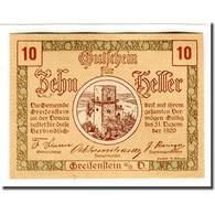 Billet, Autriche, Greifenstein N.Ö. Gemeinde, 10 Heller, Texte 1, 1920 - Autriche