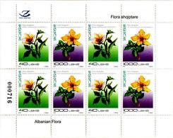 Albania Stamps 2018. Flora: Okra, St John's-wort. Mini Sheet MNH - Albania