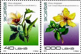 Albania Stamps 2018. Flora: Okra, St John's-wort. Set MNH - Albania