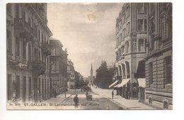 ST. GALLEN St. Leonhardstrasse U. Kirche Gel. 1907 N. Luzern Rasierklingenstempel St. Gallen - SG St. Gallen
