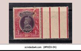 JIND STATE - 1942 10R KGVI SG#O86 SERVICE 1V OVPT MNH INDIAN STATE - Jhind