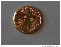 MINI OR GOLD Etats Unis USA Dollars Saint Gaudens 1907 - Etats-Unis
