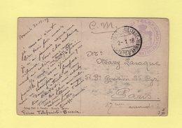 Posta Militare - Servizi Teleferici - 2-1-1918 - 1900-44 Vittorio Emanuele III