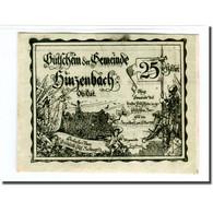 Billet, Autriche, Hinzenbach O.Ö. Gemeinde, 25 Heller, Texte, 1920, 1920-05-25 - Autriche
