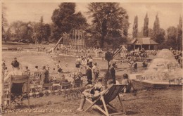 "GUILDFORD'S ""LIDO"", STOKE PARK. F.FRITH Co.. CIRCULEE 1934 SURREY A BUENOS AIRES. TIMBRE ARRACHE- BLEUP - Surrey"