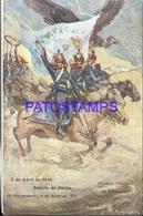 104560 ARGENTINA PATRIOTIC BATALLA DE MAIPO & FLAG POSTAL POSTCARD - Argentina