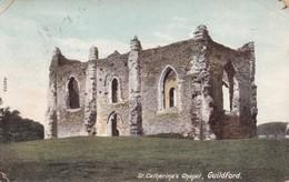 ST. CATHERINE'S CHAPEL. GUILDFORD. F.FRITH Co.. CIRCULEE 1906 SURREY A BUENOS AIRES. TIMBRE ARRACHE- BLEUP - Surrey
