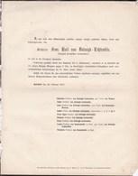 BOISDORF Chevalier Franz Von DALWIGK-LICHTENFELS Camérier Du Roi De Prusse 76 Ans 1855 - Obituary Notices