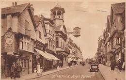 GUILDFORD, HIGH STREET. VINTAGE TOWN LANDSCAPE. F.FRITH Co. CIRCULEE 1934 SURREY A BUENOS AIRES. AUTRE MARQUE- BLEUP - Surrey