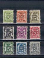 1943 - 1-VII-1943 - 30-VI-1944 - Opdruk Type D - Petit Sceau De L'etat - PRE502-PRE510 - Typo Precancels 1936-51 (Small Seal Of The State)