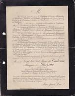 PARIS Ancien Ambassadeur Joseph De CADOINE Marquis De GABRIAC 73 Ans 1903 Ordre De PIE IX De GRAMONT - Obituary Notices