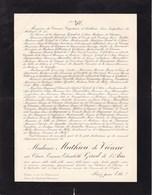 Château De CHEVRY Claire GIROD De L'AIN épouse MATHIEU De VIENNE 27 Ans 1910 Lettre Mortuaire - Obituary Notices