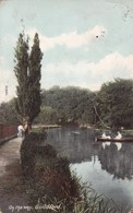 GUILDFORD, ON THE WEY. F.FRITH & Co. CIRCULEE 1908 SURREY A BUENOS AIRES. TIMBRE ARRACHE- BLEUP - Surrey