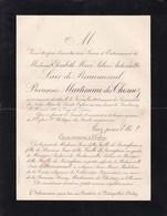 BATIGNOLLE-CLICHY Elisabeth LAIR De BEAUMESNIL Baronne MARTINEAU Des CHESNEZ 77 Ans 1906 De LEVERGHEM LEVERGEM - Obituary Notices