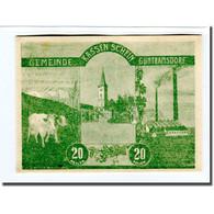 Billet, Autriche, Guntramsdorf N.Ö. Marktgemeinde, 20 Heller, Blason 4, 1920 - Autriche