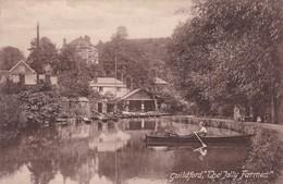 "GUILDFORD. ""THE JOLLY FARMER"". VINTAGE SCENE, LAKE BOAT. F.FRISTH & CO. CIRCA 1900s NON CIRCULEE- BLEUP - Surrey"