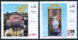 BRAZIL 2018  - BRAZILIAN MUSEUMS SERIE  -  BAHIA ART MUSEUM AND NATIONAL MUSEUM OF RIO DE JANEIRO   -  2v  - MINT - Unused Stamps