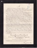 PARIS Comtre-amiral Bertrand Comte De MONTESQUIOU FEZENSAC 66 Ans 1902 Lettre Mortuaire - Obituary Notices