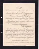 PARIS Père-Lachaise Jeanne De DAMPMARTIN Princesse François De BROGLIE 37 Ans 1901 Lettre Mortuaire De LUPPE - Obituary Notices