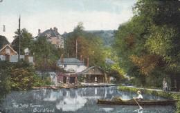 GUILDFORD. THE JOLLY FARMER. LAKE BOAT VINTAGE LANDSCAPE. F FRITH & Co. CIRCA 1900s NON CIRCULEE- BLEUP - Surrey
