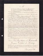 Besançon Louise De PERRINELLE Marquise TERRIER De LORAY  77 Ans 1903 Famille De MONTRICHARD Du HAUVEL - Obituary Notices