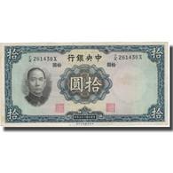 Billet, Chine, 10 Yüan, 1936, 1936, KM:218b, TB+ - Chine