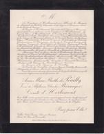 AIX-en-PROVENCE Anne De POUILLY Veuve Charles BERANGER Comte De HERBEMONT 79 Ans 1922 Lettre Décès ALLARD - Obituary Notices