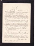 Château De MONCEAUX Par St OMER-en-Chaussée OISE Louis D'HARDIVILLIERS 78 Ans 1901 Lettre Décès - Obituary Notices