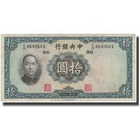 Billet, Chine, 10 Yüan, 1936, 1936, KM:218a, TB+ - Chine