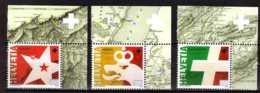 2015 Switzerland - 200. Jahrestag Der Aufnahme Von Genf, Neuenburg Und Wallis - 3 V Paper MNH** MiNr. 2392 - 2394 - Suiza