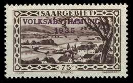SAARGEBIET 1934 Nr 187 Postfrisch X7DA616 - 1920-35 Saargebiet – Abstimmungsgebiet