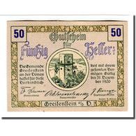 Billet, Autriche, Greifenstein N.Ö. Gemeinde, 50 Heller, Texte  5, 1920 - Autriche