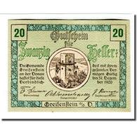 Billet, Autriche, Greifenstein N.Ö. Gemeinde, 20 Heller, Texte 2, 1920 - Autriche