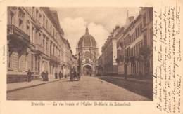 BRUXELLES - La Rue Royale Et L'Eglise St-Marie De Schaerbeck - Lanen, Boulevards