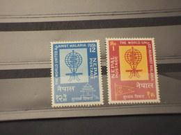 NEPAL -1962 MALARIA/INSETTO  2 VALORI - NUOVI(++) - Népal