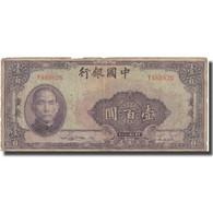 Billet, Chine, 100 Yüan, 1940, 1940, KM:88c, TB - Chine