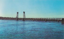 Maine Bath The Carlton Bridge Spanning The Kennebunk River - United States