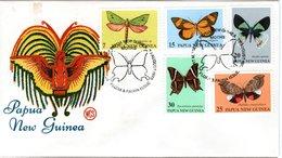 PAPUA NEW GUINEA, FDC, Butterflies   /   PAPOUASIE - NOUVELLE - GUINÉE, Lettre De Première Jour; Papillons, 1979 - Papillons