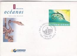 1998 AÑO DE LOS OCEANOS. FDC 1999 BUENOS AIRES, ARGENTINE- BLEUP - Protection De L'environnement & Climat